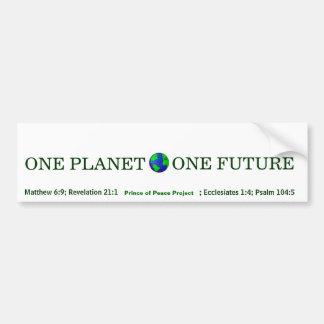 UN PLANETA, UN FUTURO del príncipe del proyecto de Pegatina Para Auto
