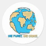 Un planeta, una opción pegatina