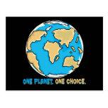 Un planeta, una opción tarjeta postal