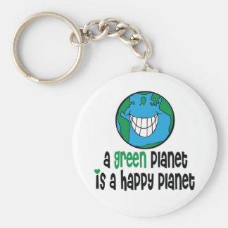 Un planeta verde es un planeta feliz llaveros personalizados