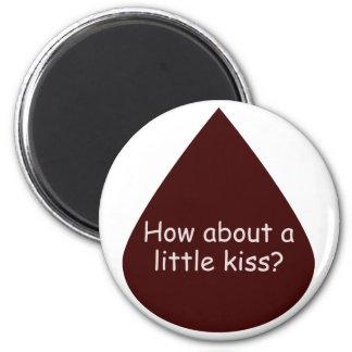 Un poco beso imán redondo 5 cm