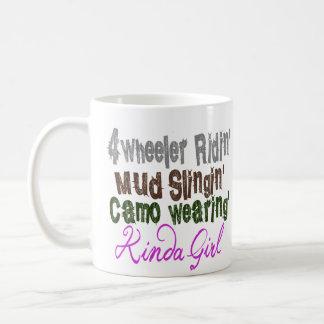 Un poco chica tazas de café