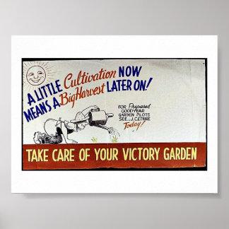 Un poco cultivo ahora significa un Harves grande m Posters