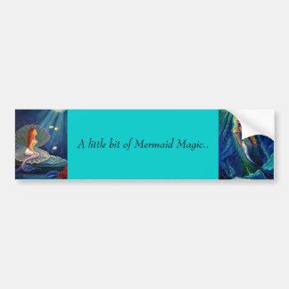 Un poco de la magia de la sirena - pegatina para e etiqueta de parachoque