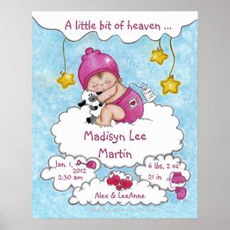 Un poco del Cielo-Nacimiento Info para el chica Póster