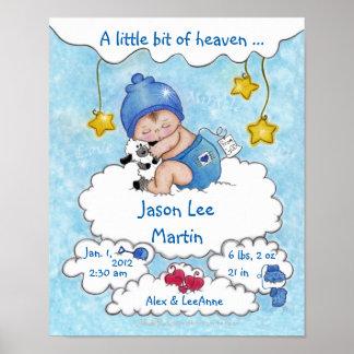 Un poco del Cielo-Nacimiento Info para el muchacho Póster