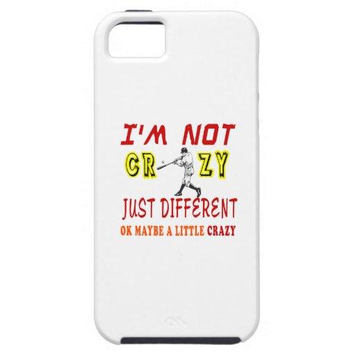 Un poco loco para el béisbol iPhone 5 Case-Mate protectores