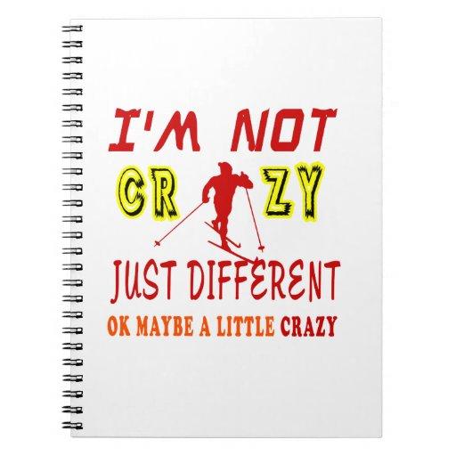 Un poco loco para esquiar cuaderno