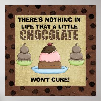 Un poco poster del chocolate