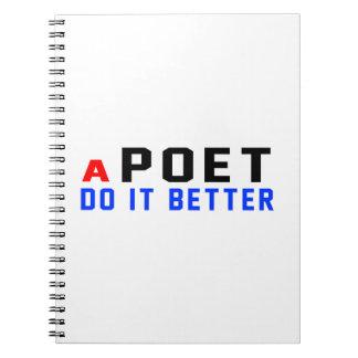 Un poeta mejora libros de apuntes