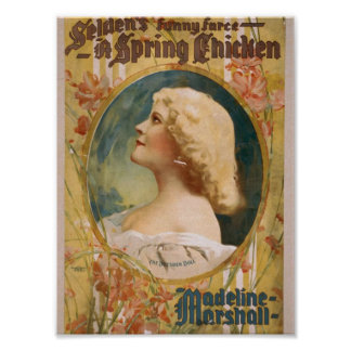 """Un pollo de primavera, """"Madeline Marshall"""" Theate  Impresiones"""