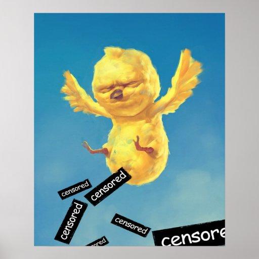 Un polluelo póster