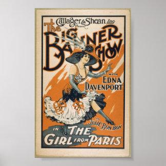 Un poster 1910 del teatro