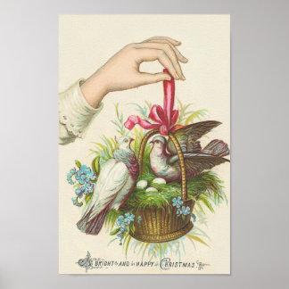 Un poster de las Navidad brillantes y felices