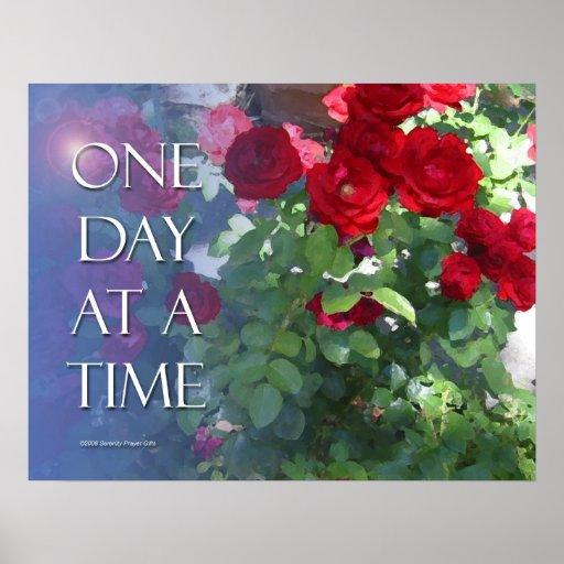 Un poster de los rosas del día a la vez