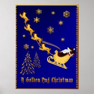 Un poster de oro del navidad del barro amasado