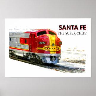 Un poster de Santa Fe