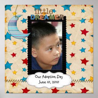un poster del día de la adopción