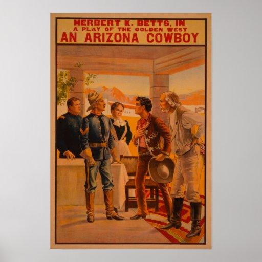 Un poster del juego de Arizona CowboyWestern