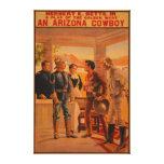 Un poster del juego de Arizona CowboyWestern Lona Envuelta Para Galerias
