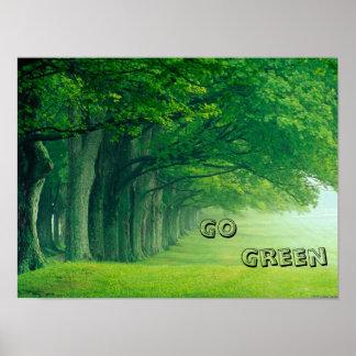 Un poster del verde del ir