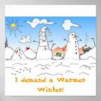 Un poster más caliente de Navidad del invierno Póster