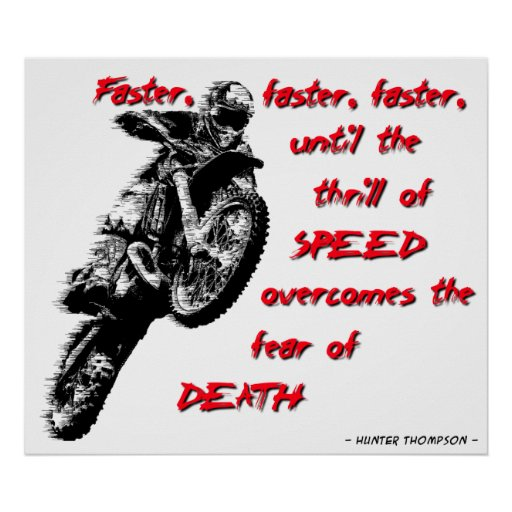 Un poster más rápido del motocrós de la bici de la