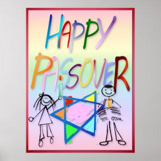 Un poster muy colorido del Passover