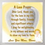 Un Poster-Personalizar del rezo del amor