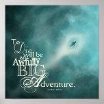 Un poster terriblemente grande de la aventura