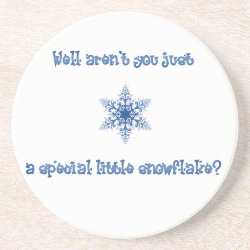 Un práctico de costa especial del copo de nieve posavasos manualidades