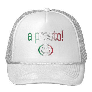 ¡Un presto! Colores de la bandera de Italia Gorros Bordados