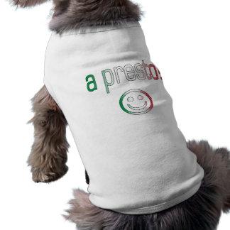 ¡Un presto! Colores de la bandera de Italia Playera Sin Mangas Para Perro