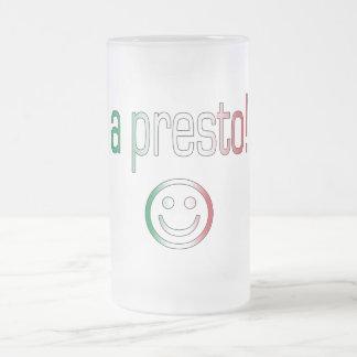 ¡Un presto! Colores de la bandera de Italia Taza De Café