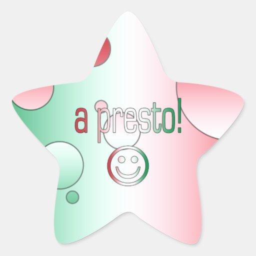 ¡Un presto! La bandera de Italia colorea arte pop Colcomanias Forma De Estrella