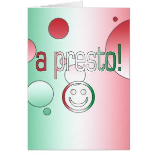 ¡Un presto! La bandera de Italia colorea arte pop Tarjeta De Felicitación