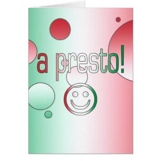 ¡Un presto! La bandera de Italia colorea arte pop Tarjeta Pequeña