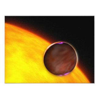 Un primer de un planeta extrasolar arte con fotos