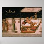 Un príncipe de Mughal que recibe a una señora en l Impresiones
