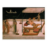Un príncipe de Mughal que recibe a una señora en Postal