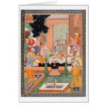 Un príncipe y los compañeros toman los refrigerios tarjetas