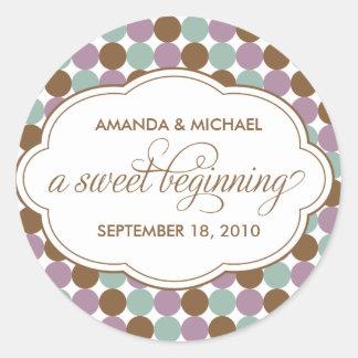 Un principio dulce - pegatina de los sweetes spot