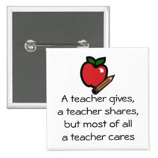 Un profesor cuida pin cuadrado
