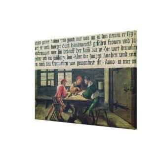 Un profesor de escuela lienzo envuelto para galerías
