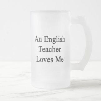 Un profesor de inglés me ama taza de café