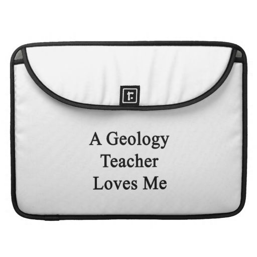 Un profesor de la geología me ama funda para macbook pro