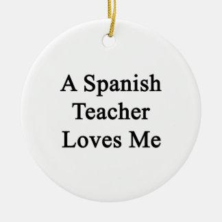 Un profesor del español me ama ornamentos de reyes