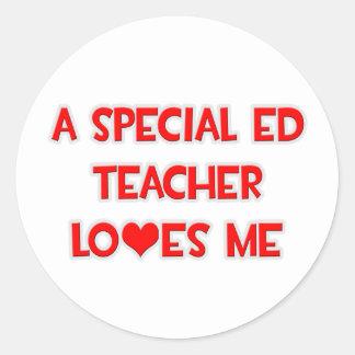 Un profesor especial de Ed me ama Etiquetas Redondas