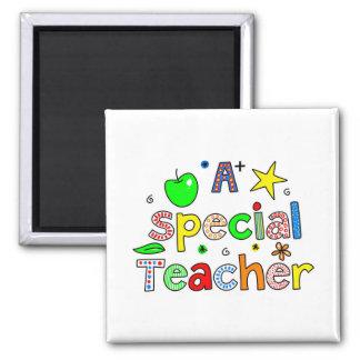 Un profesor especial imán cuadrado