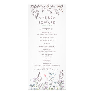 Un programa del boda del Wildflower Lona Publicitaria
